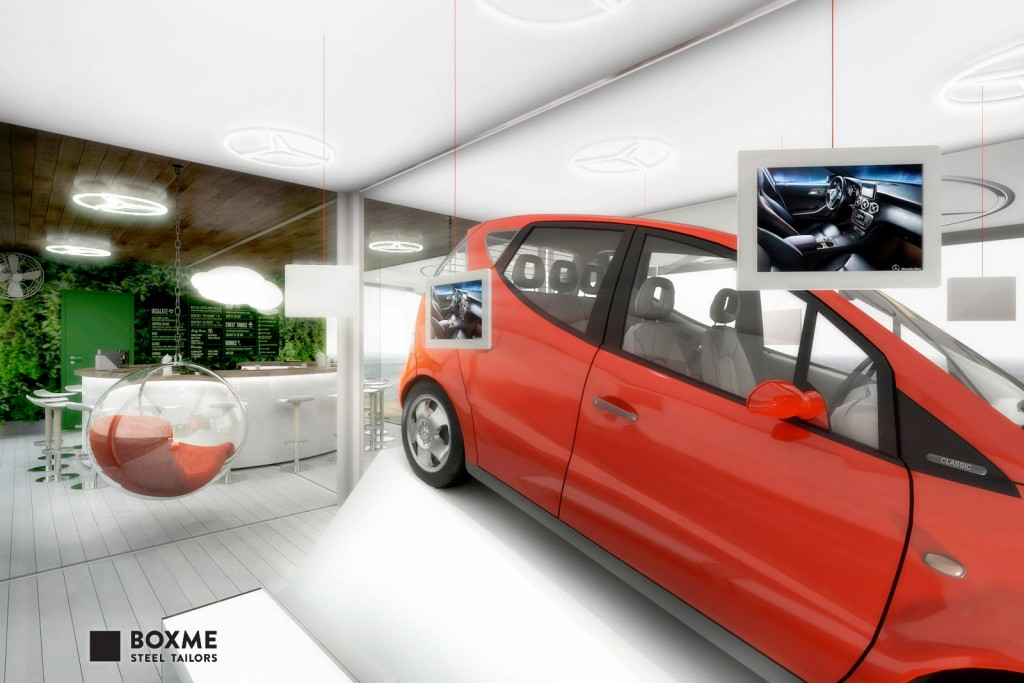 BOXME_containers_Mercedes_showroom-10