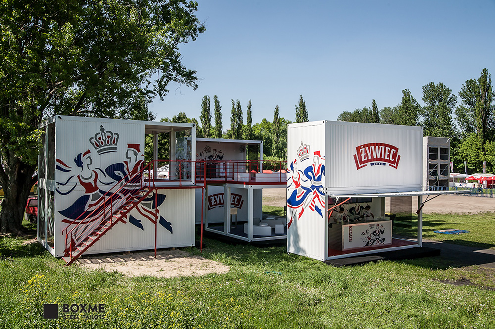 BOXME Steel Tailors for Żywiec Juwenalia chillout zone