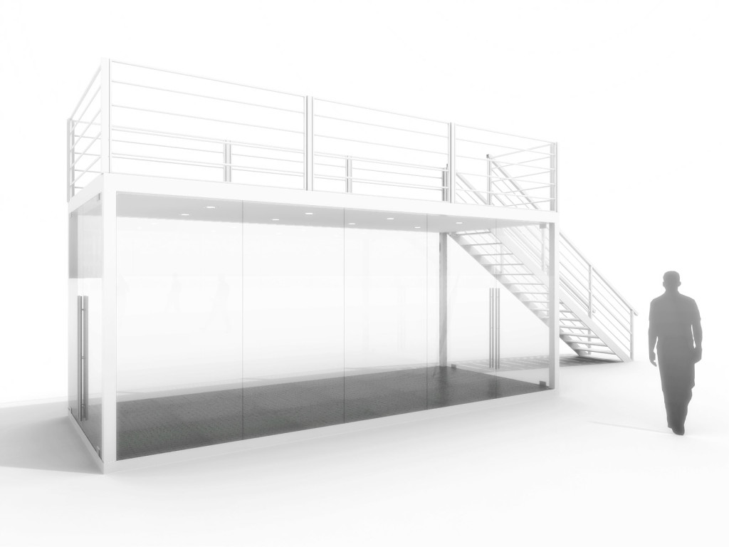 GLASS-BOX z with terrace by BOXME Steel Tailors